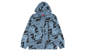 Supreme Thrasher Boyfriend Hooded Zip Up Blue XL Authentic Dover Street Market
