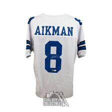 Troy Aikman Autographed Dallas Cowboys Custom White Football Jersey - JSA COA