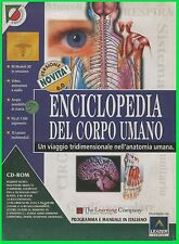 ENCICLOPEDIA del corpo UMANO leader pc cd rom ITA big box Cartonato italiano