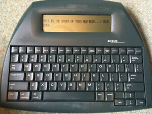 Alphasmart Neo. Writer's Xmas Present! Inc. Cable & Manual (Link) & Batteries
