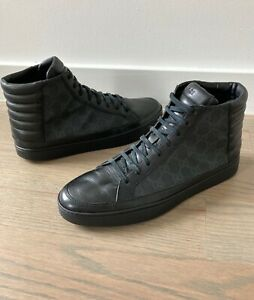 Gucci Men's GG Supreme High Top Sneakers Sz 8 G =  US 9 *Authentic*