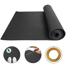 Premium Rubber Flooring Mats 3.6'x10.2' 9.5mm Exercise & Gym High Density Black