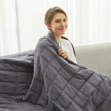Weighted Idea Weighted Blanket 20 lbs for Adult | 48''x78'&# 039; | Cotton Dark Grey