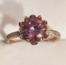 1.60ct Round Brilliant Cut Moissanite & Real Diamonds Solitaire  Ring Rose Gold