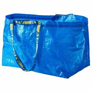 BUY 1 GET 1 FREE ! IKEA FRAKTA LARGE BLUE REUSABLE CARRIER BAG 71L LAUNDRY bags
