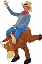 Halloween GEMMY BULL RIDER INFLATABLE ADULT MEN COSTUME Haunted House NEW