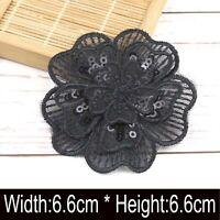 3D Applique Floral Embroidery Lace Trim Clothes Sewing Patch DIY Collar Decors