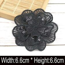 3D Applique Floral Embroidery Lace Trim Clothes Sewing Patch DIY Collar Decors
