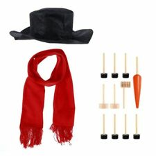 Snowman Decorating Dressing Kit Winter Holiday Outdoor Toys Decoration Christ BA