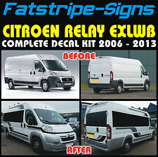 CITROEN RELAY EXLWB MOTORHOME VINYL GRAPHICS STICKERS DECALS STRIPES CAMPER VAN
