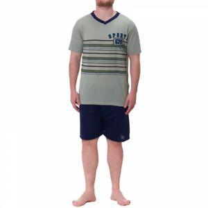 Lucky Men's Shorty Pajamas short Sleeve Pyjama Size M L XL XXL
