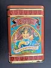 boite publicitaire en métal chocolat en poudre KOHLER 22 cm x 15 cm de coté