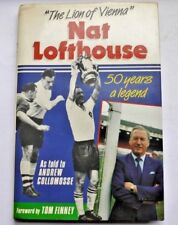 * SIGNED * Nat Lofthouse Lion of Vienna + Signed Sportsman's Dinner Invite