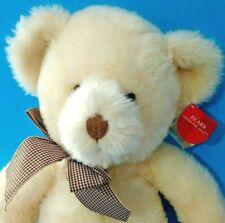 Vintage Russ Lillian Teddy Bear Beige Plush Stuffed Animal Handcrafted 4397