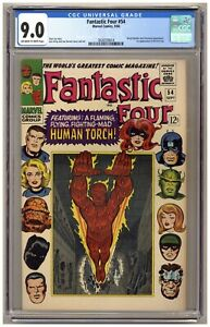 Fantastic Four 54 (CGC 9.0) 1st app. Evil Eye Black Panther Inhumans Kirby C139