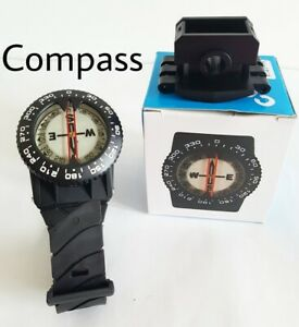 Wrist And Hose Mount Clear Reading Easy Operation Scuba Diving Compass