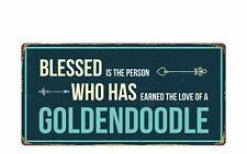 """1581Hs Blessed Is The Person The Love Of A Goldendoodle 5""""x10"""" Novelty Sign"""