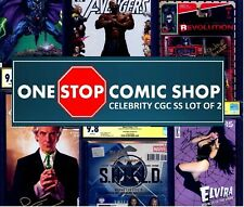 One Stop Comic Shop Signed LOT of 2 CELEBRITY CGC Signature Series NO DUPLICATE
