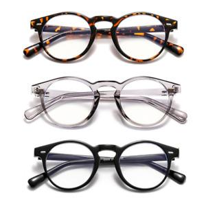 Retro Round Frame Eyeglasses Eyewear Men Women Anti Blue Light Computer Glasses