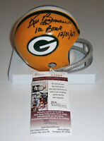 PACKERS Ken Bowman signed mini helmet w/ Ice Bowl '67 JSA COA AUTO Autographed