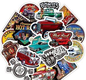 Hot Rod Auto Aufkleber / Sticker bomb 50stk. Vintage Motorrad Helm Geschenk