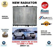 FOR SUBARU JUSTY III G3X 1.3 AWD 1.5 AWD 2003-> NEW RADIATOR ** OE QUALITY **