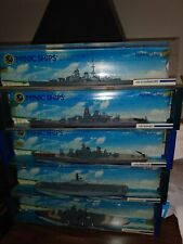 Lot Of 5 Mimic Fighting Ships By Hornby 1:1200 Scale