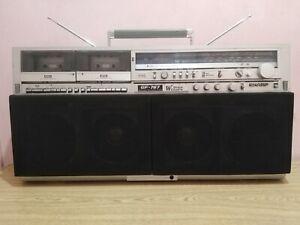 Vintage Sharp GF-767H Stereo Boombox Cassette ghettoblaster  - Working