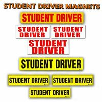Zone Tech Student Driver Magnets Warning Safety Decals Reflective Non Reflective