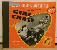78 rpm Judy Garland Mickey Rooney Decca album A-362 Girl Crazy