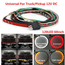 60in Flexible LED Truck Tailgate Light Strip DRL Stop Lamp Turn Signal 120LED