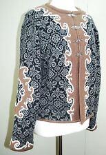 VRIKKE Wool Norwegian Nordic Cardigan Sweater - Metal Clasp Black/Brown Scroll