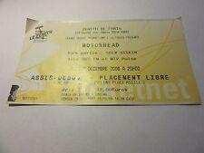Motorhead Concert Ticket Stub-Paris France-Dec 2006