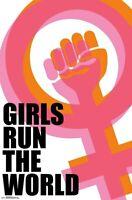 GIRLS RUN THE WORLD - INSPIRATIONAL POSTER - 22x34 - 17614