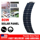 80W Semi-flexible Solar Panel for Car Battery/RV/Boat/Camping/Power Station US