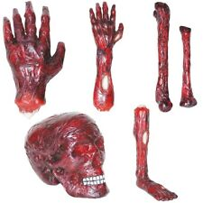Burnt Body Parts Skull Arm Bone Hand Leg Halloween Decorations Prop