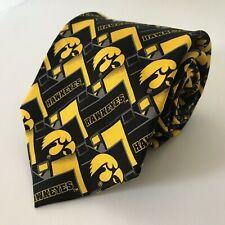 Iowa Hawkeyes Mens Tie NCAA Football SilkEagle Neckwear Yellow Black College