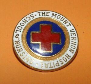 Mount Vernon Hospital Nursing School Pin 1988 Enameled & Gold Filled Montefiore