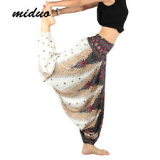 Thai Hippie Boho Harem Trousers Loose Beach Yoga Meditation Dance Wide Leg Pants