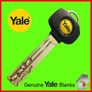 Yale Platinum Key 3 Star Black & Yellow Fob Dimple Key Genuine High Security Key