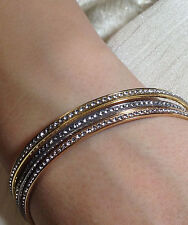 Sterling Silver Bangles Embellished with Swarovski Crystals in Multiple Colors