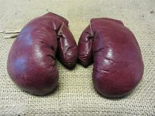 Vintage Leather Boxing Gloves > Antique Old Sports Ring Fight Childs 8093