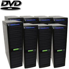 80 SATA Burner CD DVD Disc Daisy Chain Duplicator Copier Multi Standalone + HDD