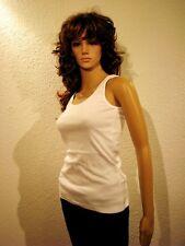 Damen Tops Top Hüftlang Chillytime weiss Baumwolle Figurbetont Freizeit *001*