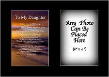 A mi hija poema Personalizado Con Cualquier Foto Cumpleaños Regalo De Navidad