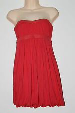 Miss Selfridge Coral Strapless Puffball Mini Dress Size 8