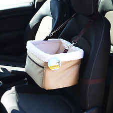 ME & MY PETS BEIGE CAR BOOSTER SEAT & CARRIER FOR DOG/PUPPY/CAT TRAVEL/CAGE/SAFE