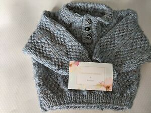 Baby's Hand Knitted jumper 3-6 months KJ36