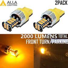 Alla Lighting 3000K 7443 30-LED Turn Signal Light Blinker Bulb Lamp,Amber Yellow