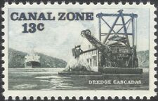 Canal Zone 1976 Dredger/Ships/Boats/Transport/Commerce/Trade/Nautical 1v  n45303